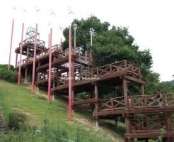 兵庫県立播磨中央公園 長いアスレチック