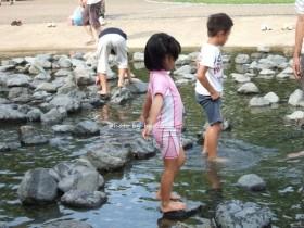 兵庫県立播磨中央公園 水遊び