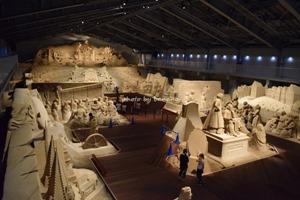 子供と一緒に砂の美術館観光