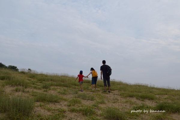 子供と一緒に鳥取砂丘 遊び