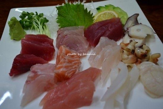 アリビラ周辺レストラン 大木海産物レストラン 刺身盛り合わせ