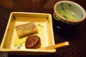 黒川温泉 奥の湯 食事(デザート栗ようかん)