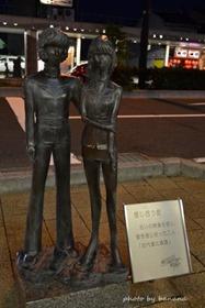 敦賀駅前商店街 戦艦ヤマトの銅像