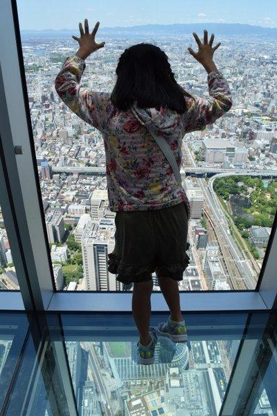 子供とあべのハルカス展望台 大阪観光