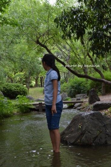 大泉緑地 川遊び