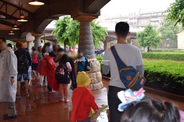 6月平日雨の日ディズニーシー混雑具合