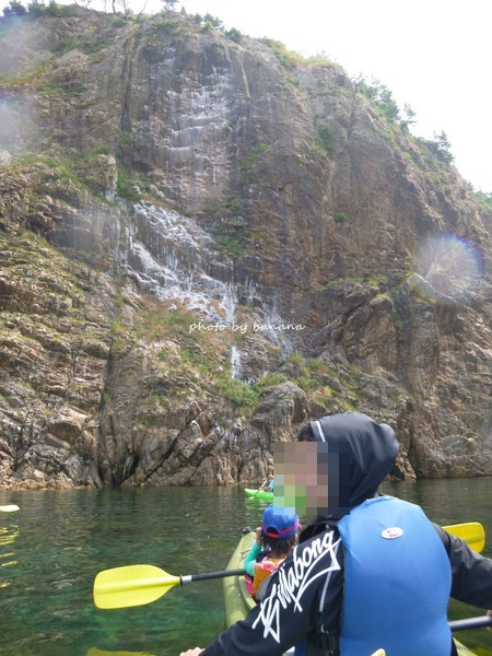 鳥取浦富海岸シーカヤック体験子供と一緒