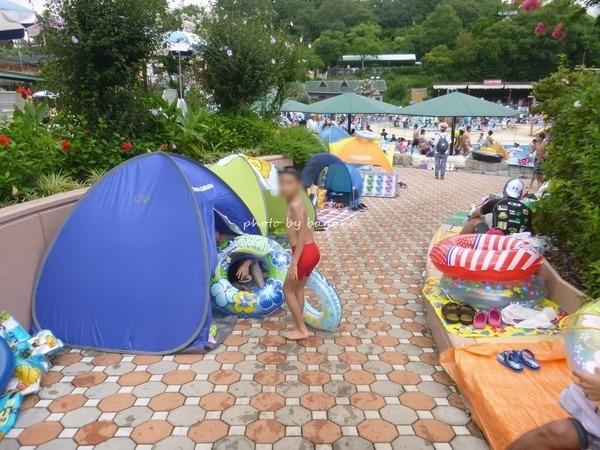 鈴鹿サーキットプール混雑テント