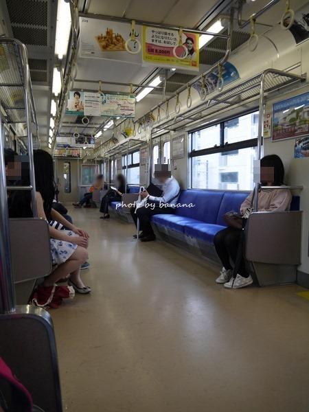 ユニバ行き環状線車内 USJ