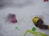 琵琶バレイ 雪遊び2