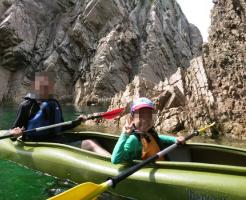 鳥取・浦富海岸子供とシーカヤック体験